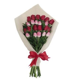 Ramo de Tulipanes con Rosas